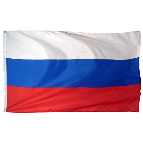 Online Stores Russia Printed Polyester Flag, 3 by 5-Feet