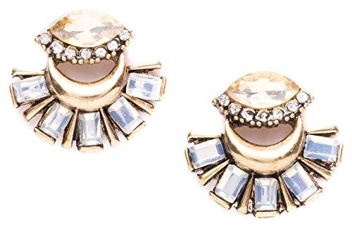 Happiness Boutique Damen Statement Ohrringe Gold | Vintage Ohrringe Große Ohrstecker nickelfrei