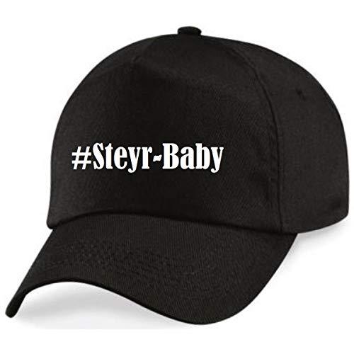 Reifen-Markt Base Cap Hashtag #Steyr-Baby Größe Uni Farbe Schwarz Druck Weiss