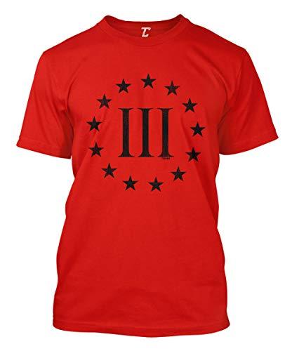 Three Percenter Logo - Threeper Protest Men's T-Shirt (Red, X-Large)