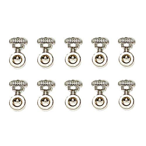 MOVKZACV 10 Stück Speed-Springseil-Schrauben, Endkappen, Drahtseilklemmen, Klemmen aus Edelstahl, Drahtseilklemme, Drahtseilklemmen, Bolzen