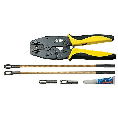 Klein Tools 56115 Fiberglass Fish Tape Repair Kit, Black