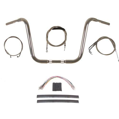 Hill Country Customs 1 1/4' Chrome 14' Ape Hanger Handlebar Kit 1996-2006 Harley-Davidson Softail - BC-HC-11414C-ST06