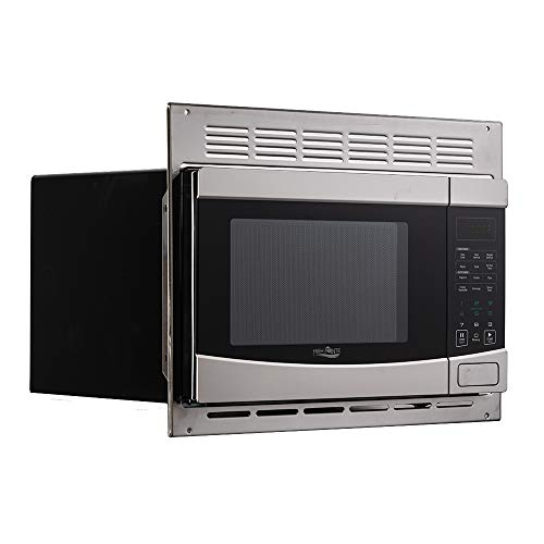 Tough Grade 1.0 Cu. ft Stainless Steel Microwave w/Trim Kit | High Pointe Direct Replacement | EM925AQR