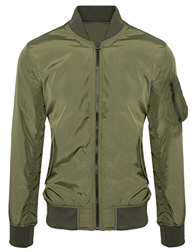 Rock Creek Selection Herren Harrington Jacke Bomberjacke Armyjacke Übergangsjacke H-125 [J-536 ArmyGreen XXL]