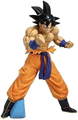 ZDVHM Dragon Ball Action - Figura de cabello negro Goku Anime Figura Modelo Estatua Desktop Decoraciones Colecbles Juguetes Regalos