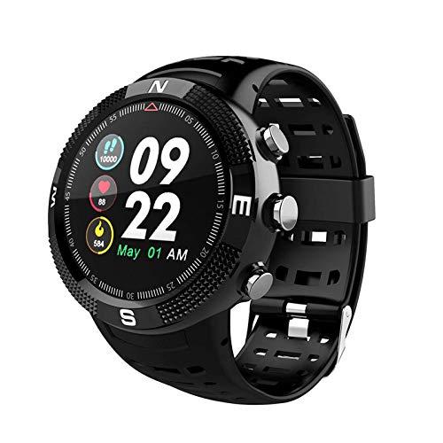 Reloj inteligente de 1,1 pulgadas, monitor de actividad física IP68, resistente al agua, monitoreo del sueño, múltiples modos de deporte para hombre y mujer, color negro