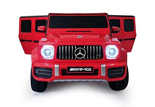 Babycar Mercedes G63 Versione Sport AMG ( Rosso ) Nuova Versione Macchina Elettrica per Bambini Ufficiale con Licenza 12 Volt Batteria con Telecomando 2.4 GHz Porte Apribili con MP3