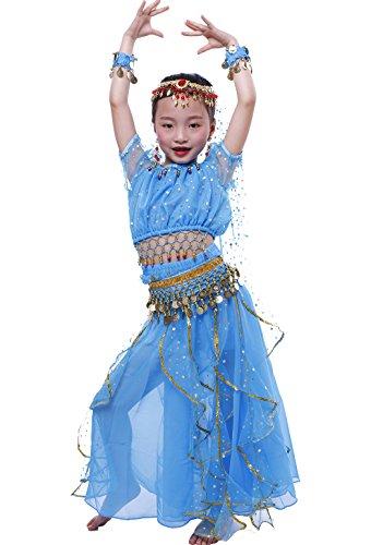 Astage Bauchtanz Mädchen Kleid Sky Blue L