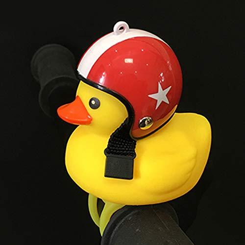 Fahrrad Kopflicht abnehmbare Cartoon Outdoor-Rad Rennrad mit LED-Reiten Kinder Spielzeug verstellbare Band Entenform Zubehör Silikon geführt(4)