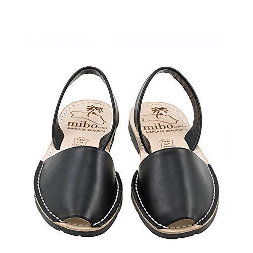 Authentic Avarca Menorquina Sandals Basic Seta Negro - Talla 37 EU