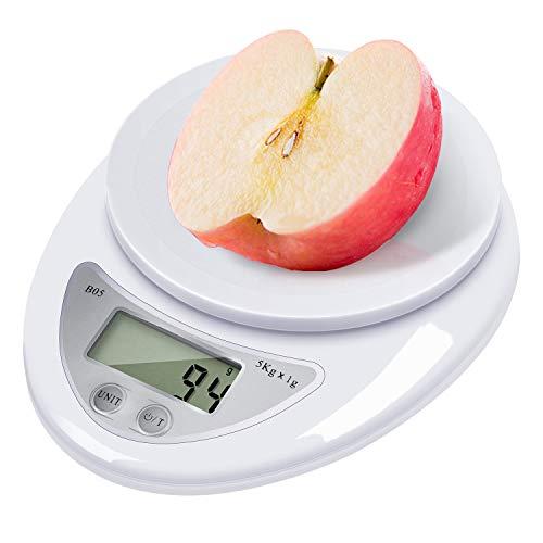 Balance de cuisine numérique portable - Balance numérique professionnelle - Haute précision - Affichage LCD - Piles incluses - Arrêt automatique - WH-B05