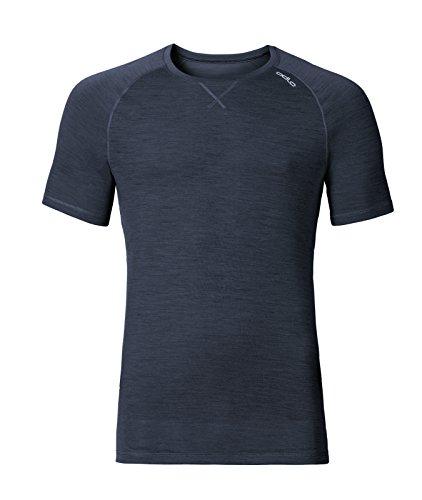 Odlo Herren Shirt s/s Crew Neck Revolution TW Light Unterhemd, Navy New Melange, S