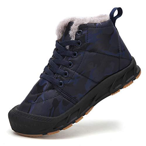 AFT AFFINEST Botas de nieve para niños y niñas, impermeables, con forro de piel, zapatillas de invierno