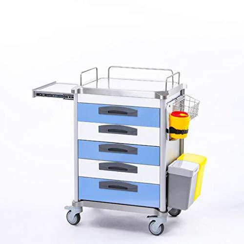 GEEFSU-Pflegewagen Medical Dental Wagen ABS Multifunktionsinstrument - Geeignet für Die Pflege und Das Anlegen Von Verbänden