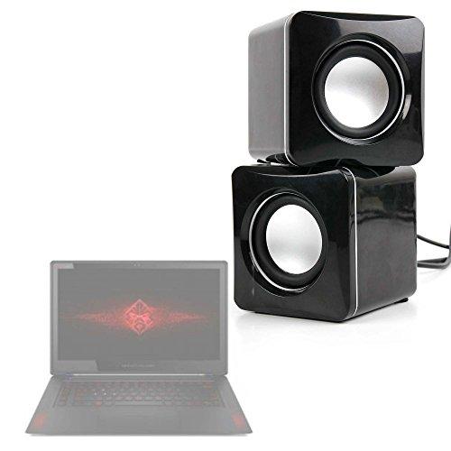 DURAGADGET Altavoces Compactos para HP 15-ay110na, HP Omen 15-ce030ng, 15-ce032ng, 17-an030ng, 17-an032ng, 17-an033ng, 17-an034ng, 17-an035ng, HP Pavilion Power 15-cb009ns, 15-cb032ns, 15-cb033ns