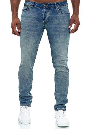 MERISH Jeans Herren Slim Fit Jeanshose Stretch Designer Hose Denim 502 (36-32, 502-1 Hellblau)