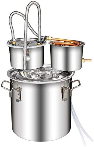 KZHOME Home Brewing Kit 3 Pot 5Gal 20L Stainless Steel Water Distiller Copper Tube with Circulating product image