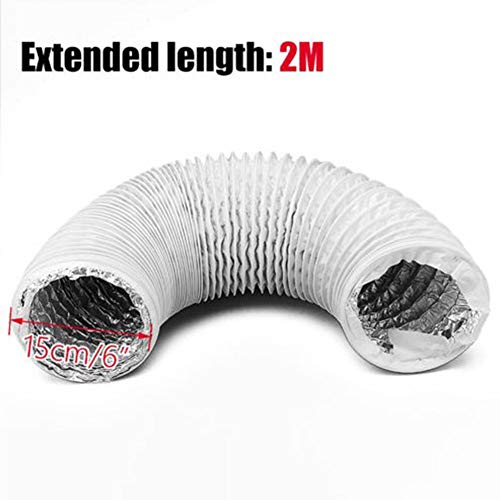 Afvoerslang, aluminiumfolie, flexibel, voor afzuigkap, airconditioning, droger, afzuigkap, 2 m/3 m 2 m