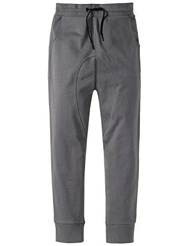 Schiesser Jungen Mix & Relax Joggpants Schlafanzughose, Grau (Grau 200), 176 (Herstellergröße: L)