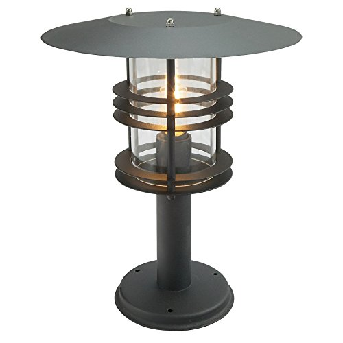 France Luminaires Grande lanterne Stockholm noire et polycarbonate clair