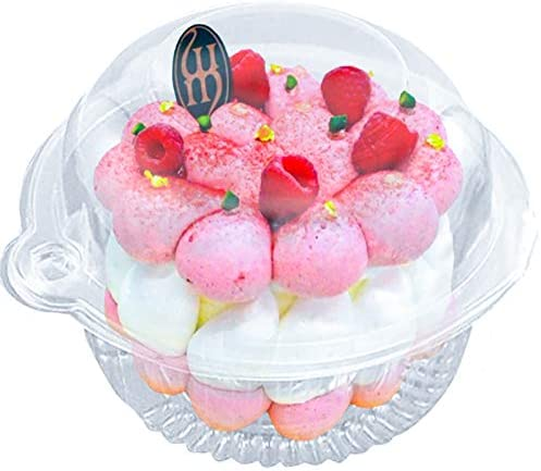 50 Pcs Single Individual Cupcake Container Plastic Disposable Cupcake Holder with Lid Cake Muffin product image