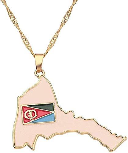 niuziyanfa Co.,ltd Collar Mapa del país Bandera Collar África Guinea Ghana Liberia Submarino Jamaica Sudáfrica Congo Honduras Cadena Colgante Hombres Joyería