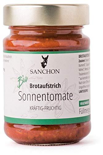 Sanchon Crema para untar el pan de tomate soleado, afrutado, ecológico, 190 g