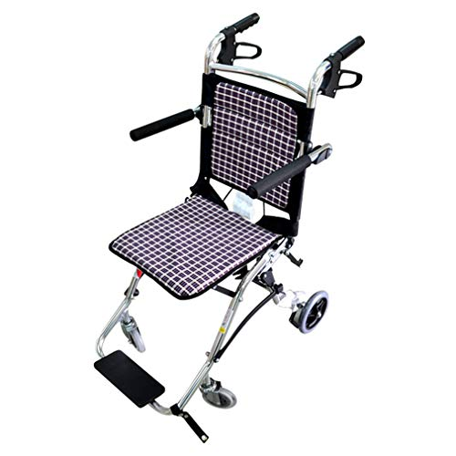 yuwell 超軽量折り畳み車椅子 軽量型搬送椅子 携帯式車椅子搬送 椅子 お年寄りや子供向け、正味重量ワズカ6.5KG 飛行機持ち込み可、収納カバン付き
