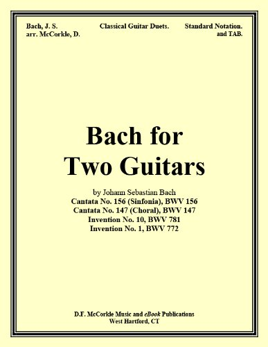 Bach for Two Guitars (Sheet Music and TAB for the Guitar Book 1)