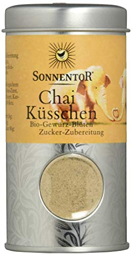 Sonnentor Chai Küsschen Gewürz-Blüten-Zubereitung Streudose, 1er Pack (1 x 70 g) - Bio