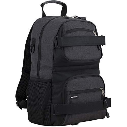 Eastsport New Double Strap Skater Multipurpose Backpack, Black Chambray