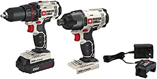 PORTER-CABLE 20V MAX Cordless Drill Combo Kit, 2-Tool (PCCK604LA)