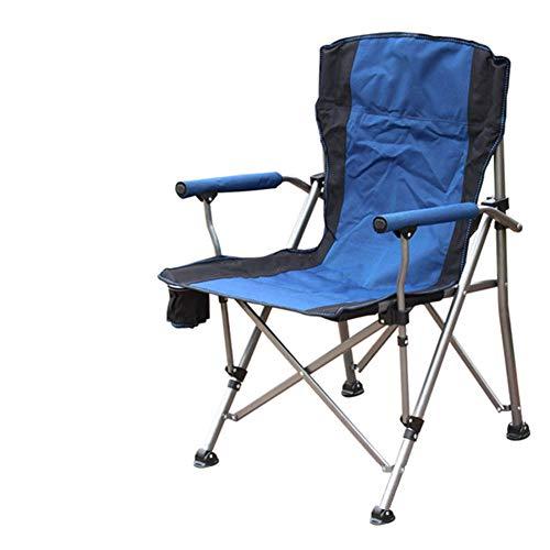 Silla de Camping Plegable al Aire Libre, Asiento Plegable con Bolsa de Transporte y portavasos Marco de Acero Portátil Ligero Ligero y portátil, al Aire Libre Pesca Festival Playa -Azul