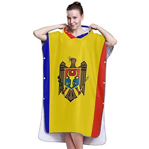 All3DPrint Peignoir de bain Motif drapeau de Moldavie