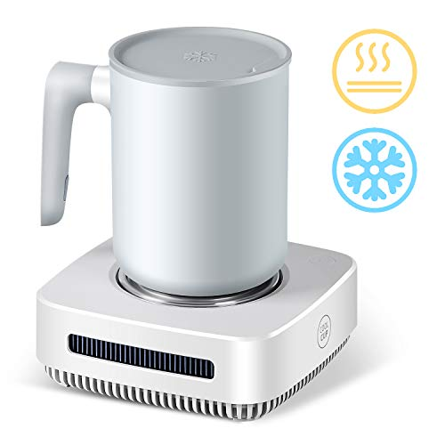 nicelucky Cup Cooler-Coffee Warmer Desktop 2IN1, 131℉ - 46℉ Coffee Tea Drinks Mug Warmer Cooler Desktop Heating and Cooling Beverage Plate For...