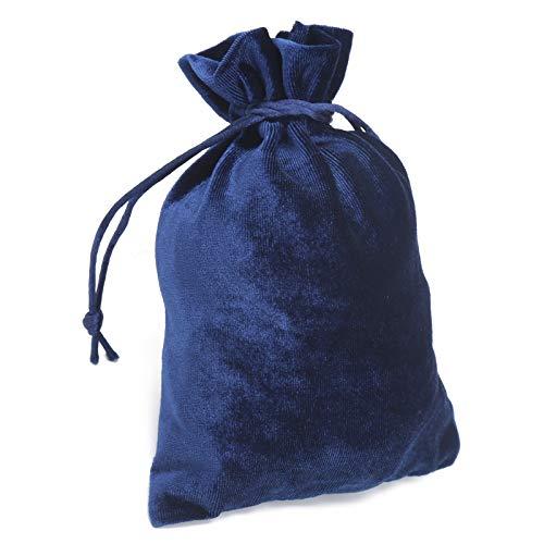 Okuyonic Bolsa con cordón fácil de Cerrar y Abrir rápidamente Bolsas de Terciopelo duraderas con cordón para niños para Mujer(Royal Blue)