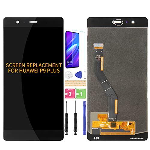 SRJTEK Compatible para Huawei P9 Plus Pantalla LCD VIE-L09 VIE-L29 Pantalla de repuesto para VIE-AL10 Sensor de Pantalla Táctil Digitalizador Kits de Asamblea (Negro Sin Marco)