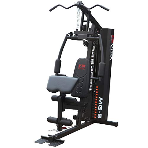 AsVIVA Kraftstation MG5 Pro, 35in1, 90 kg Multi-Gym (inkl. 90 kg Gewichtsblöcke), Massive Fitnessstation, Power Homegym