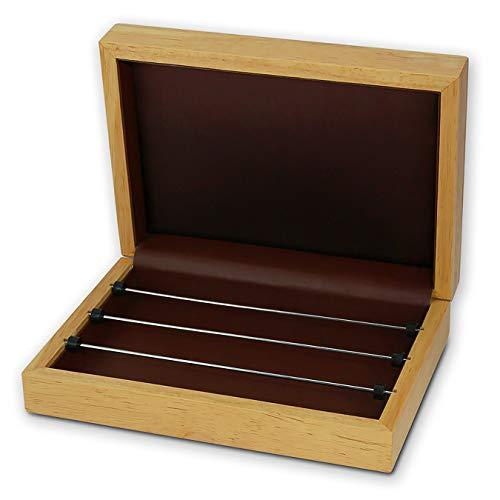 SilberDream Charms und Beads Schmuck Box aus Buchenholz Schmuckkassette hellbraun Charmsbox Beadsbox DIY01