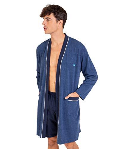Massana - Vestido cruzado para hombre, color azul chino X52 azul chino L