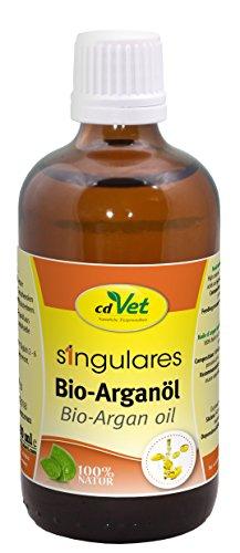 cdVet Naturprodukte Singulares Bio-Arganöl 100 ml - Hund, Katze, Heimtiere - stärkt Immunsystem - Revitalisierung+Regeneration der Haut - reich an Vitamin E+ungesättigte Fettsäuren - kaltgepresst -