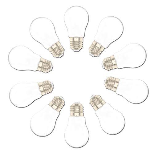 10er E27 LED Lampe A50 1.5W ersetzt 15 Watt Warmweiß Glühbirne Birne für Hochzeit Halloween Weihnachten Party Bar