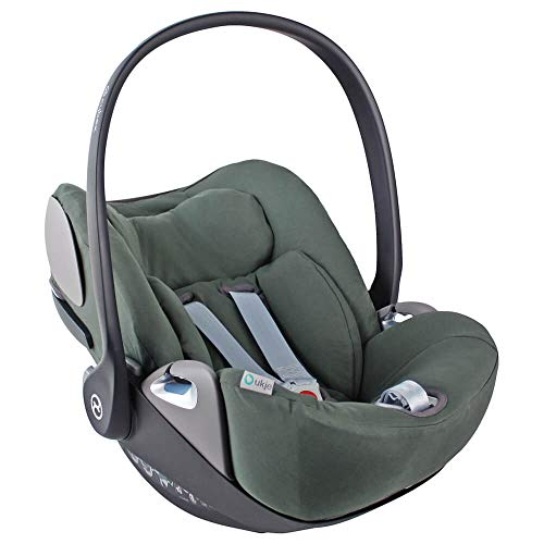 Funda de verano Cybex Cloud Z para portabebés, color verde oscuro, ajuste perfecto, suave con certificado Öko-Tex 100, algodón que absorbe el sudor y suave para tu bebé.
