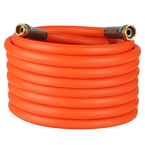 """YAMATIC Garden Hose 5/8 in x 50 ft Ultra Flexible Water Hose, Heavy Duty&All-Weather, Burst 600 PSI, 3/4"""" GHT Connector"""