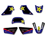 Bicicleta Motocross Estilo de la Motocicleta Equipo gráfico amp; Fondos Kits Etiqueta DE Etiquetas for Yamaha PW50 PW 50 Pit Moto Moto Autocollant