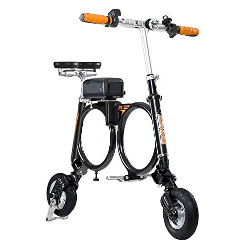 WYFDM Bicicletas, Scooter Eléctrico La Bicicleta Electrónica Compacta Plegable con Bolsa de Transporte para Adultos Marco Ideal para Montar en la Ciudad y Viaje, negro
