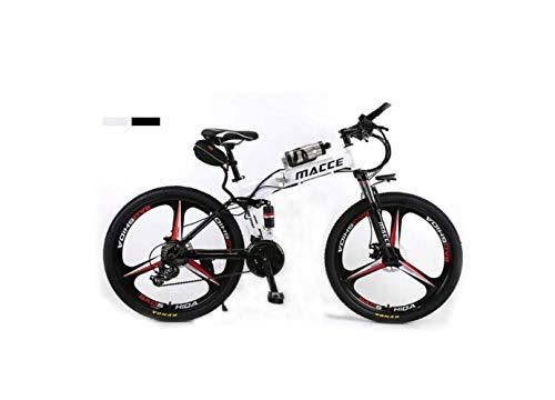 SEESEE.U Mountain Bike Unisex Doppia Sospensione Mountain Bike 26'Ruota Integrale Bicicletta elettrica Bicicletta in Acciaio ad Alto tenore di Carbonio Ibrida Pedale Bici assistita con Batteria agli