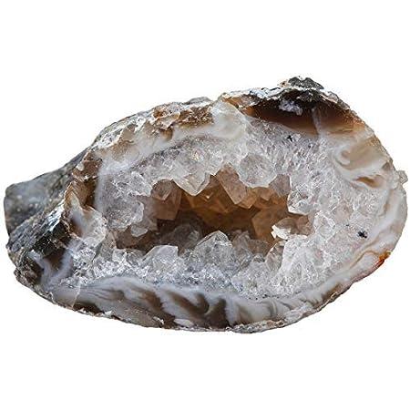 Mookaitedecor - Geodo ágata con piedras y cristales naturales para minerales, colección Druse Cristal Decorativo