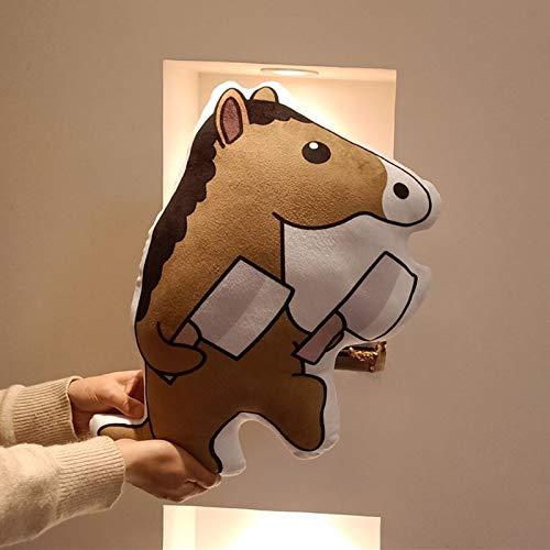 Doinbtoy Burlarse de muñecos de Peluche de Caballo de Dibujos Animados. Regalos creativos para niños y niñas 50cm D